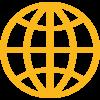 Piktogramm einer Weltkugel
